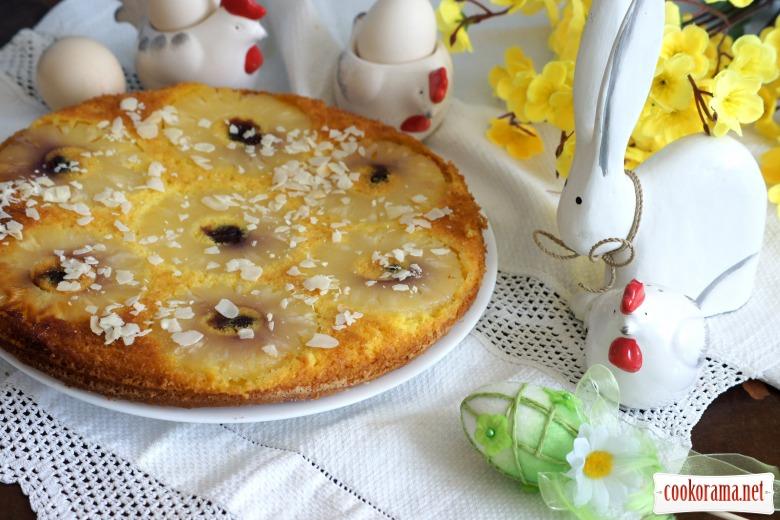 """Пирог-перевертыш с ананасами """"Солнечный зайчик"""""""