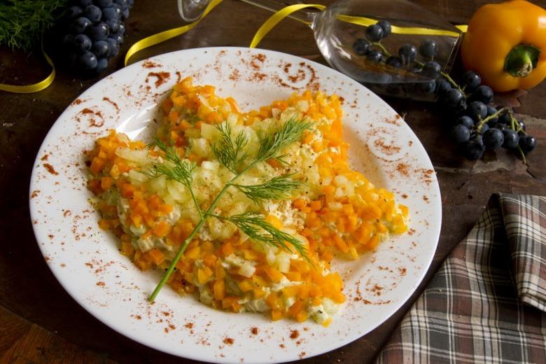 рецепты салат листочек