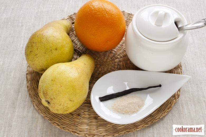 Варенье из груши с ванилью