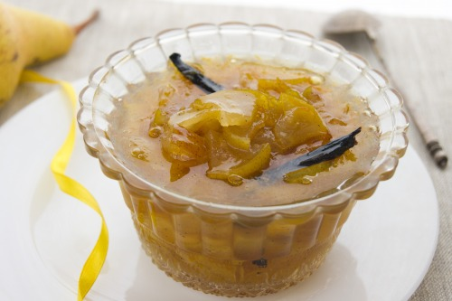 Pear jam with vanilla