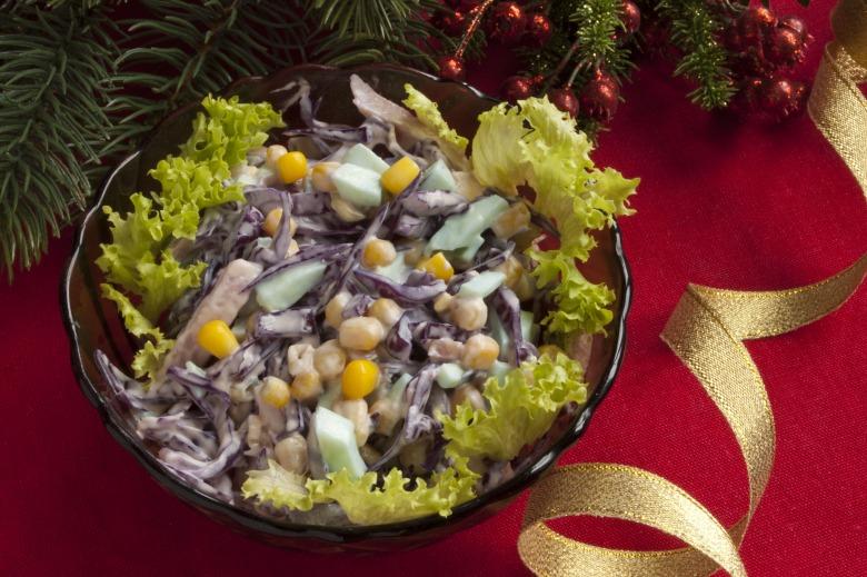Салат из краснокачанной капусты
