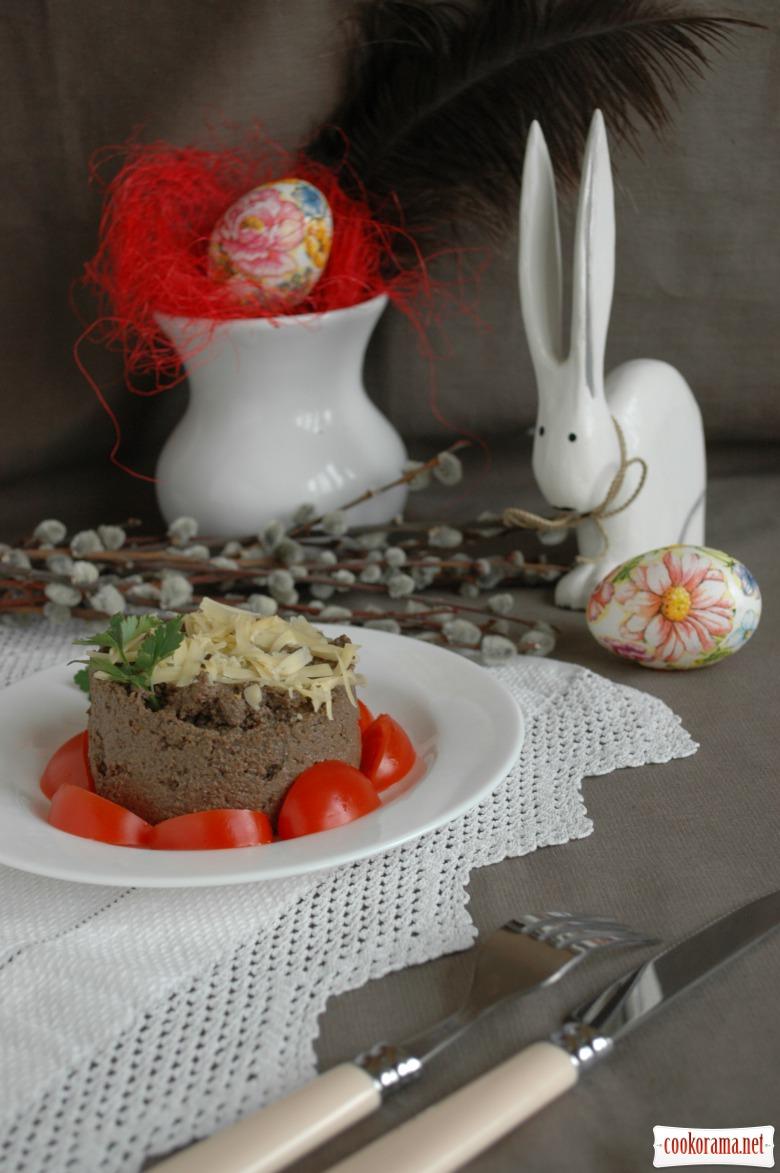 Печінковий паштет з чорносливом і в'яленою вишнею