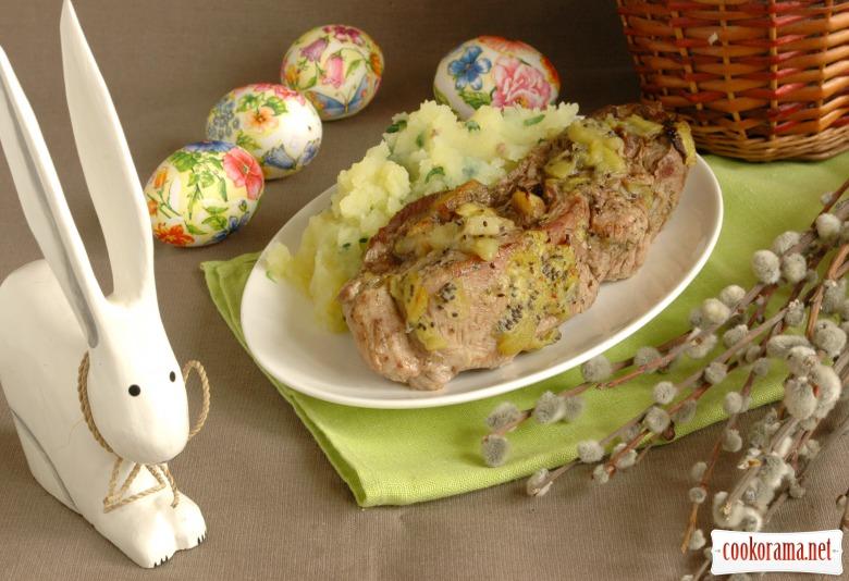 М'ясо, запечене з ківі