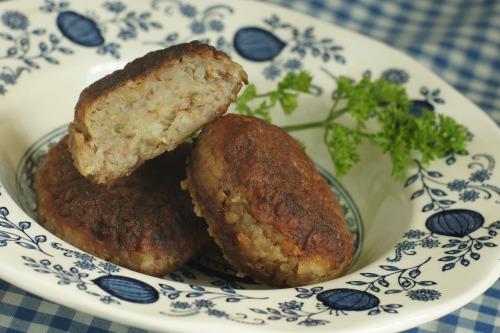 Котлетки из гречневой крупы и картофеля