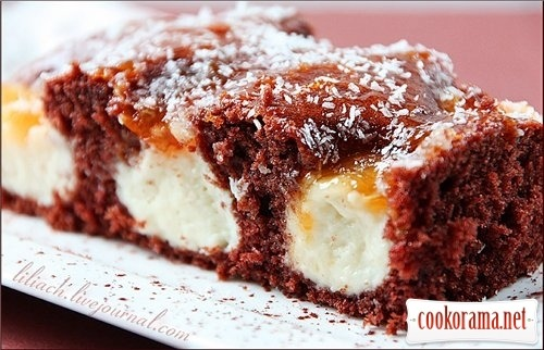 Шоколадно-кокосовый пирог / Schoko-Kokos Duo-Schnitten