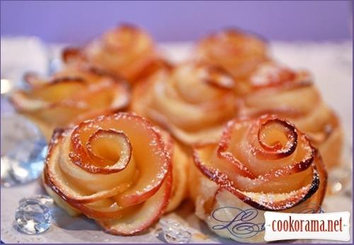 Яблочное пирожное «Букет роз»