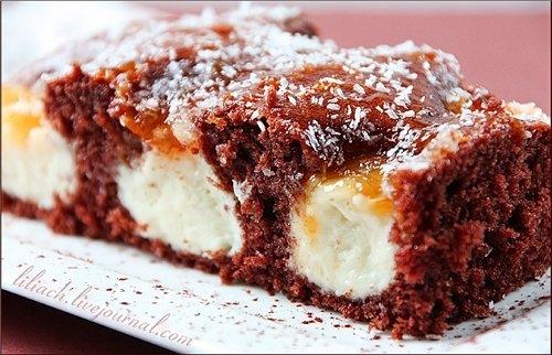 Шоколадно-кокосовий пиріг / Schoko-Kokos Duo-Schnitten