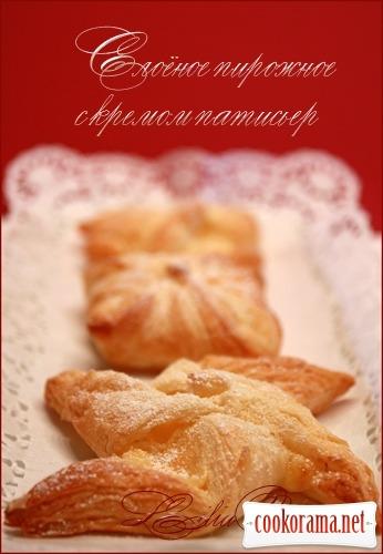 Листкове тістечко з кремом патісьер