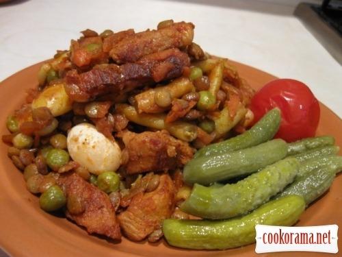 Pork with beans