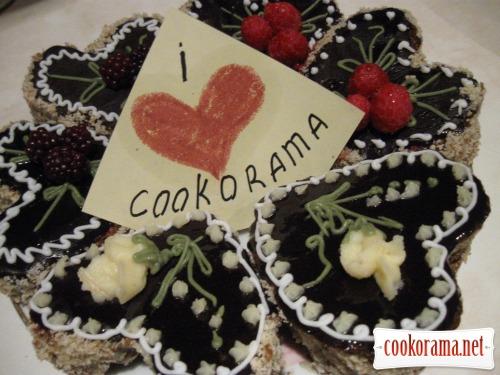 «J'aime» ореховые мини тортики без муки