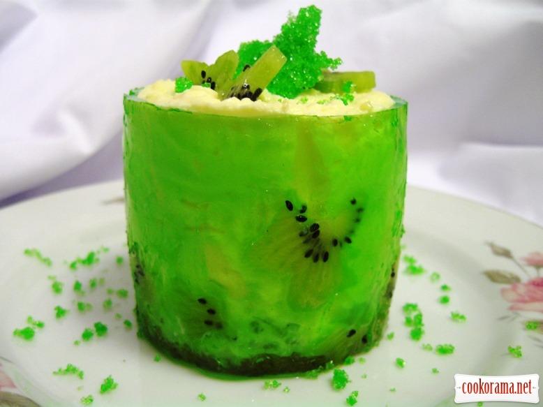 Cирний десерт з ківі