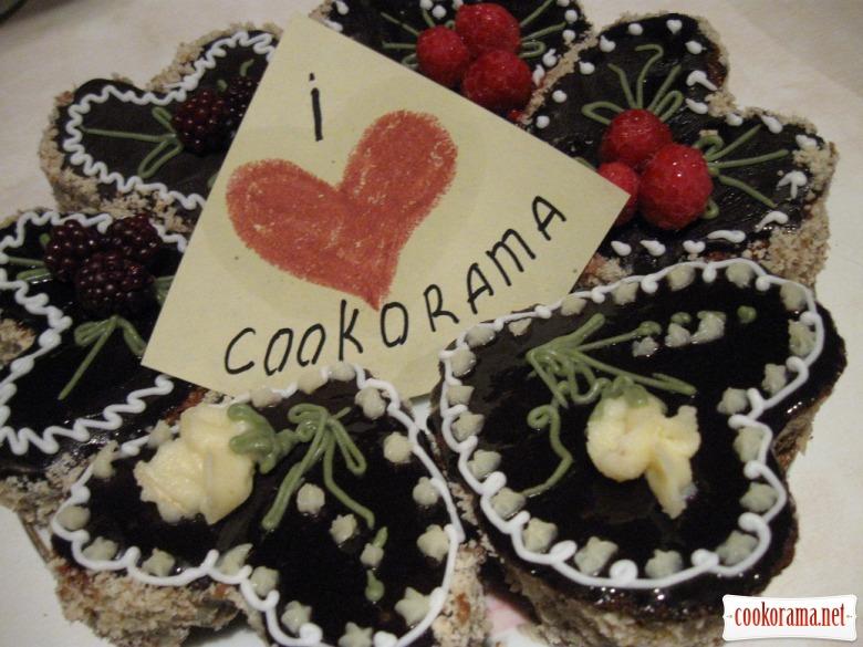 """""""J'aime"""" ореховые мини тортики без муки"""