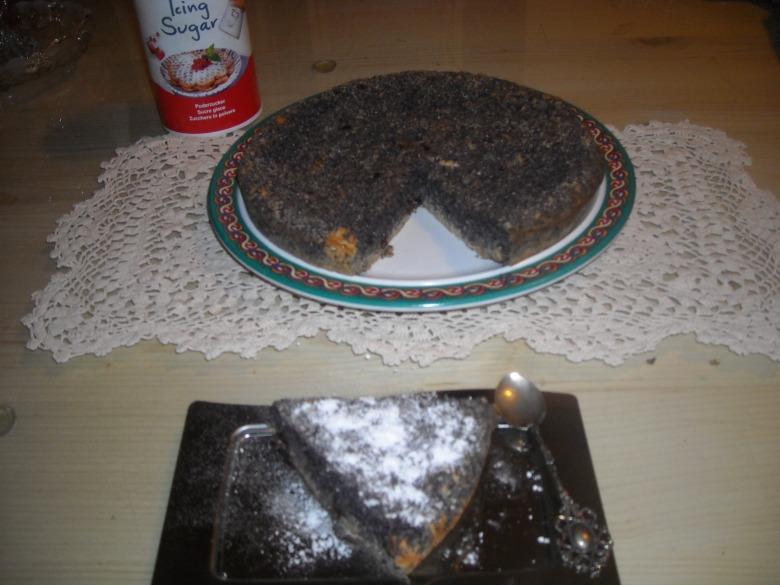 Маковый торт без муки