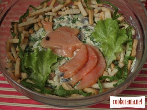 Salad «Golden fish»