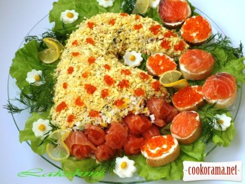 Салат-закуска «З рогу всього багато»