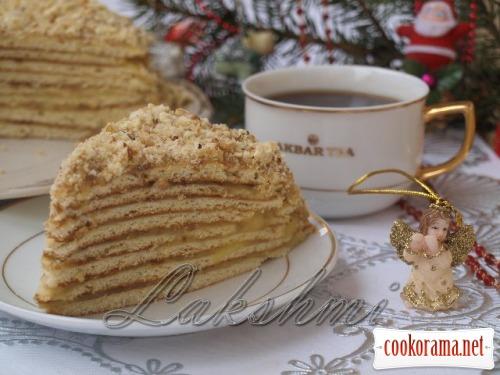 Торт на сковороді з заварним кремом