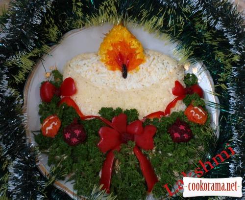 Салат «Свічка»