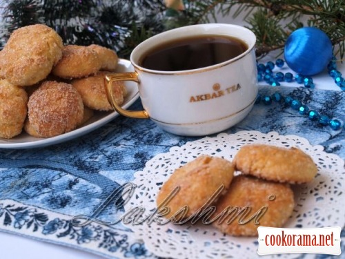 Christmas cottage cheese cookies with dried apricots