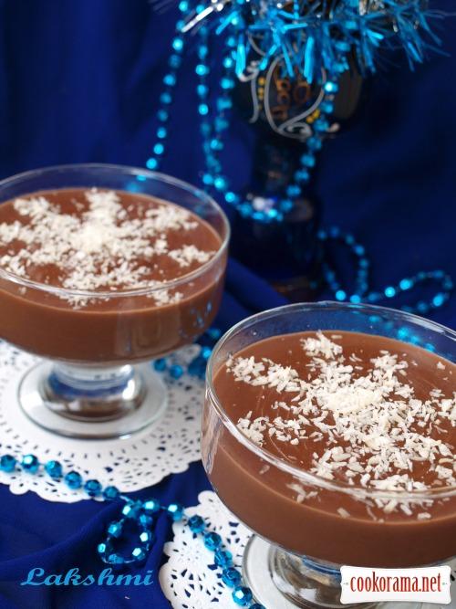 Новогодний десерт из конфет «Снежинки»