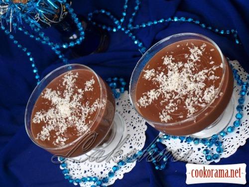 Новорічний десерт з цукерок «Сніжинки»
