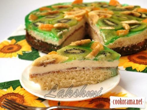 Фруктово-сливочный торт «Наслаждение»