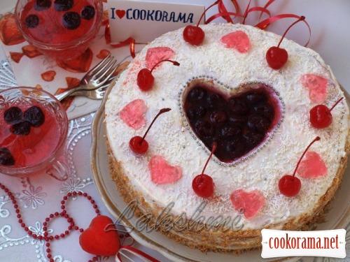 Торт «Сердечко для Кукорамы»