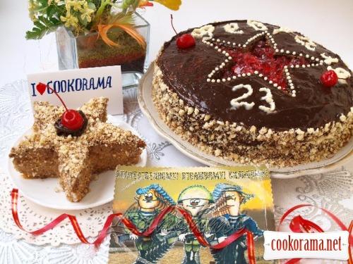 Торт для найулюбленіших і дорогих чоловіків + бонус тістечко «Зірка»