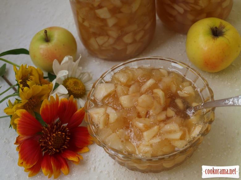 Яблочный джем с карамелью