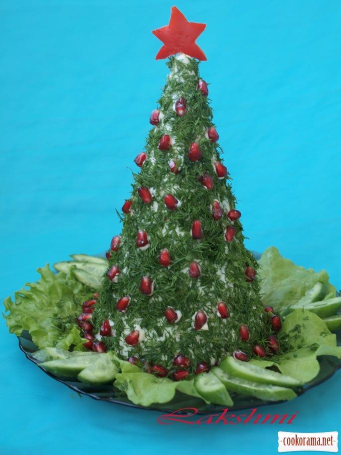 "Сирне желе ""Різдвяна ялинка"""