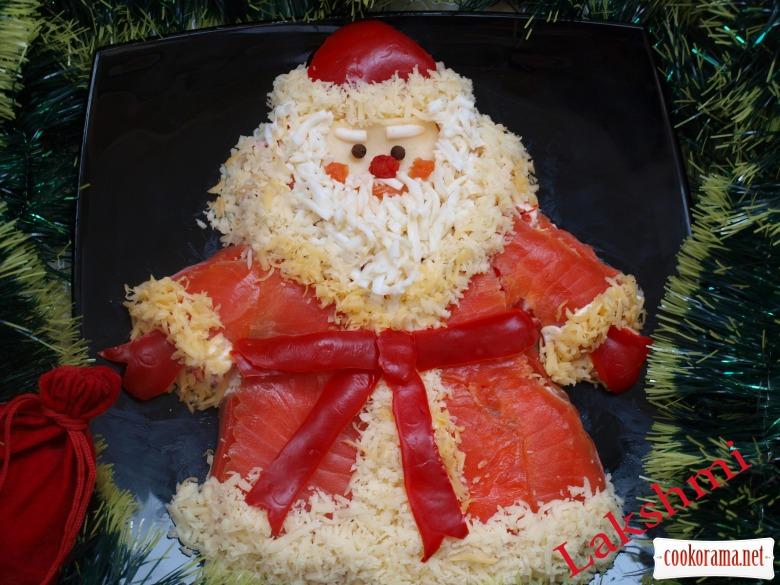 "Салат ""Дед Мороз - Красный нос"""