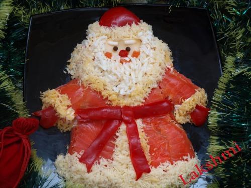 """Салат """"Дід Мороз - Червоний ніс"""""""