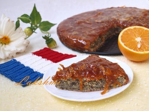 Апельсиновий кекс з маком