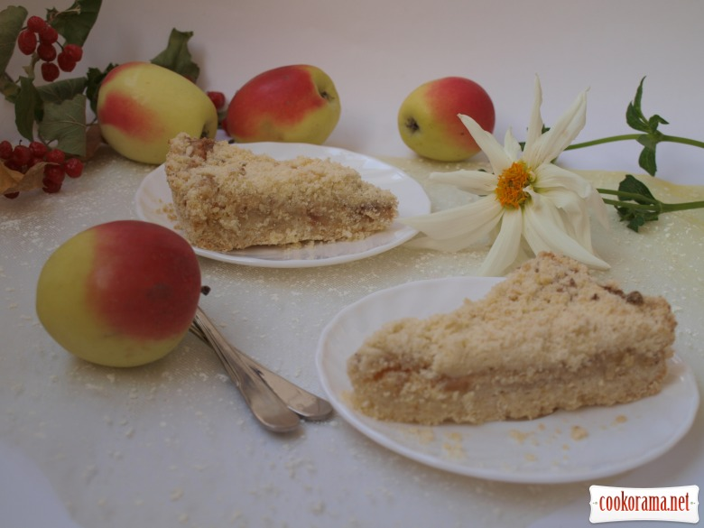 Apple-curd pie