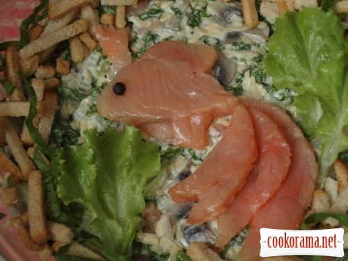 "Salad ""Golden fish"""