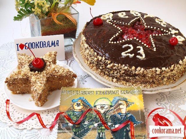"""Торт для найулюбленіших і дорогих чоловіків + бонус тістечко """"Зірка"""""""