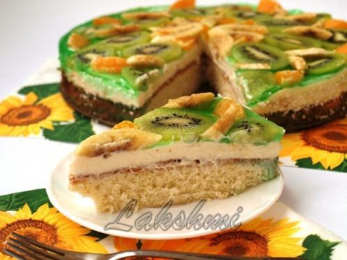 """Фруктово-сливочный торт """"Наслаждение"""""""