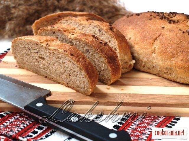 Гірчичний хліб з цільнозернового борошна з насінням льону
