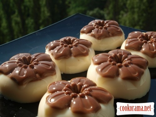 Jelly from baked milk and chocolate