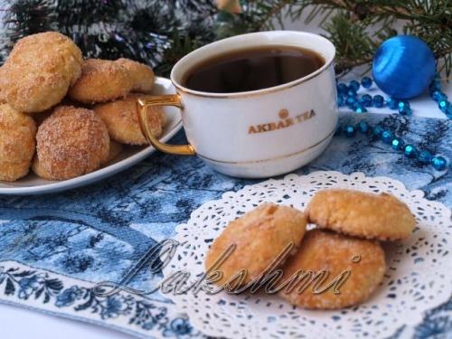 Новогоднее творожное печенье с курагой