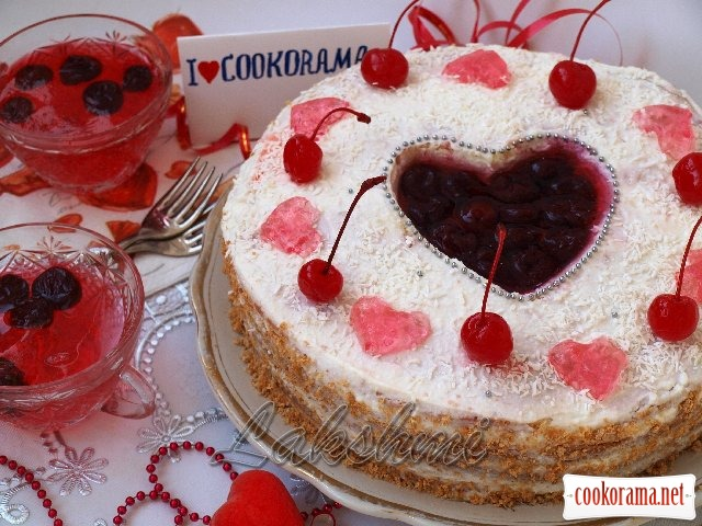 "Cake ""Heart for Cookorama"""