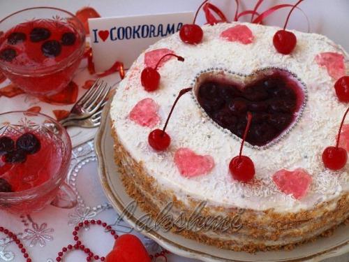 "Торт ""Сердечко для Кукорамы"""