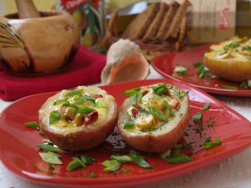 Картофельная брускетта по-средиземноморски