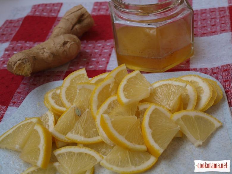 Лимон с имбирём и мёдом