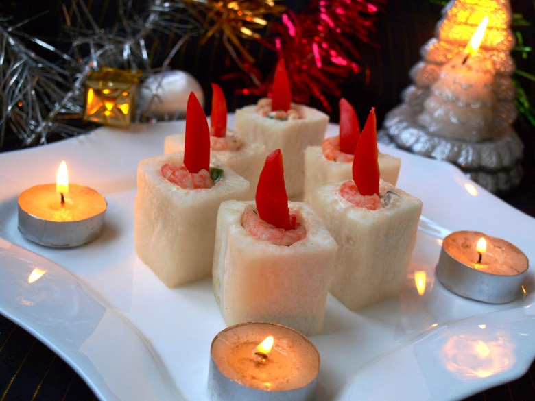 """Закуска """"Новогодние свечи"""""""