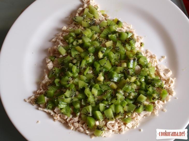 Салат с киви «Ёлочка»