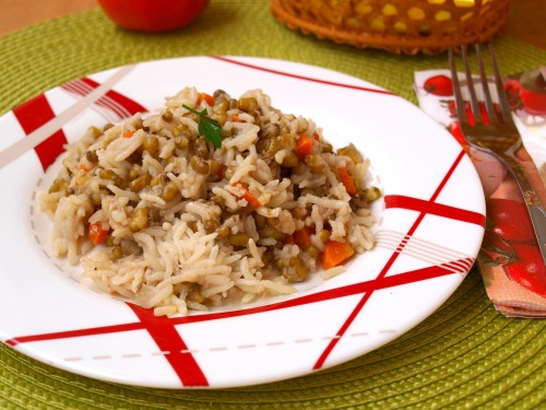 Гарнир из маша и риса
