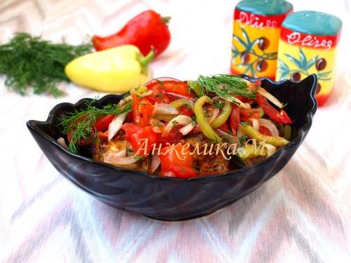 Салат из баклажанов и перца