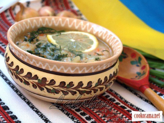 Цибулевий пісний суп