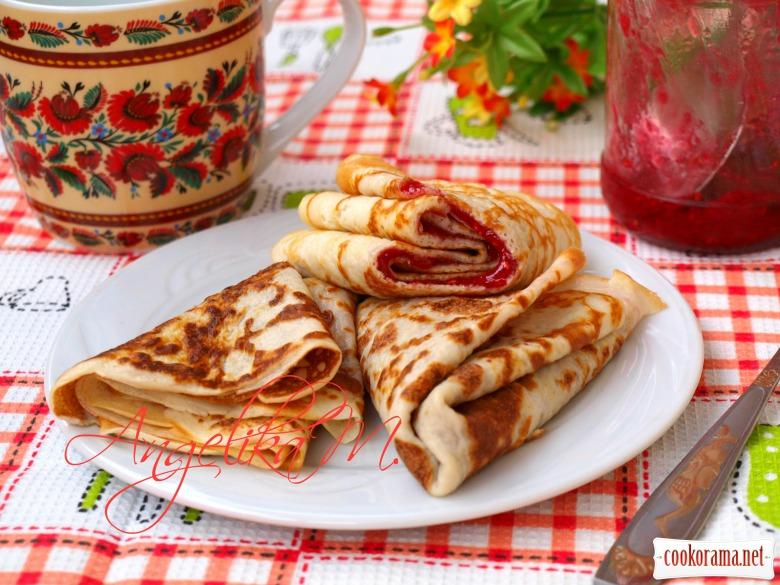 Pancakes on kefir