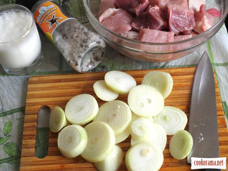 Шашлык из свинины маринованной в кефире